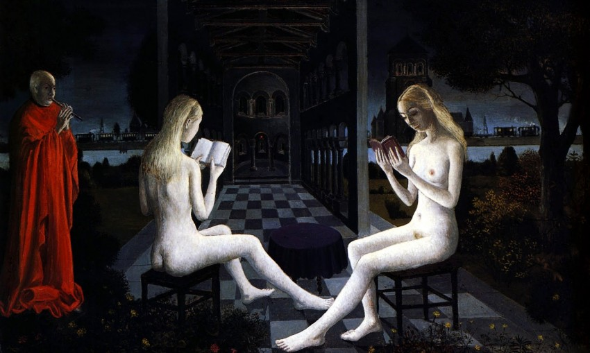 The office of evening, 1971, Paul Delvaux
